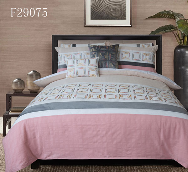Mosaic pink warm design Duvet Cover 3 Pieces Set Soft Comforter Cover