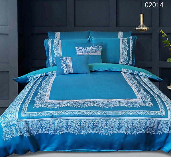 Super Soft Blue Hotel Collection Dekbedovertrek stel luukse beddegoedstelle