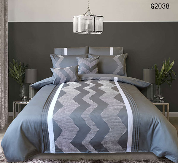 Wave Pattern Hotel Collection Duvet Cover Set Stitch Luxury Bedding Sets