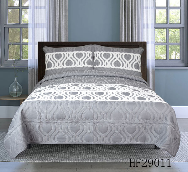 Bedspread-HF29011 with antique rope embroidery