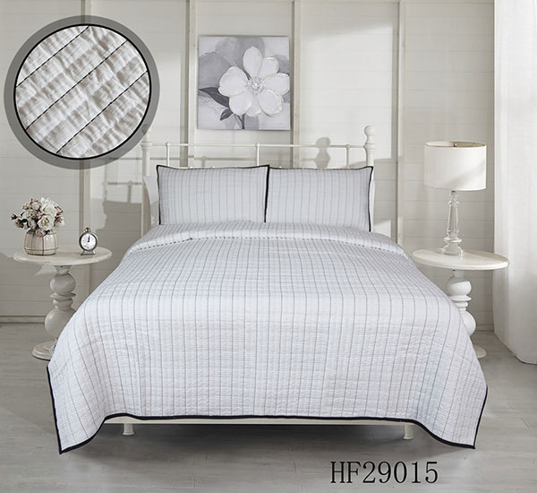 Bedspread-HF29015 rub hair cloth with classic stripe look