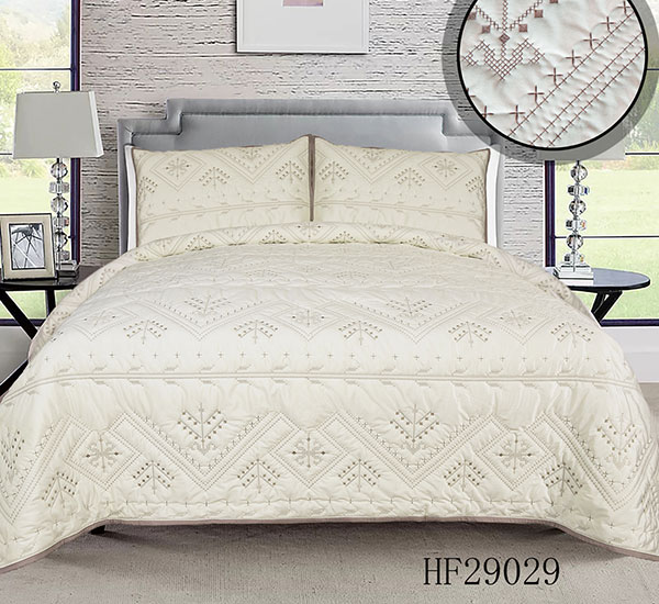 Super Soft Fluffy Warm Flanel spierwit HF29029 Bedsprei