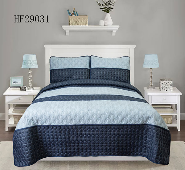 Ultra Soft Microfiber Stripes Pattern bedspread HF29031
