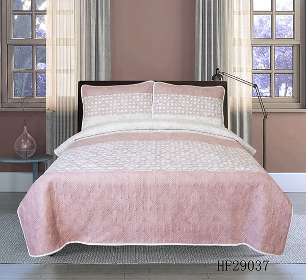 loyal stylish romance of girl blush pink HF29037 bedspread