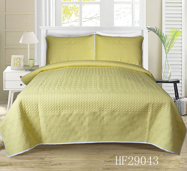Beige Easy Care ጂኦሜትሪክ ንድፍ HF29043 bedspread