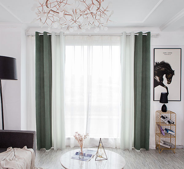 Olive Elfenbein kombinéiert Chic 8239 Blackout Curtains