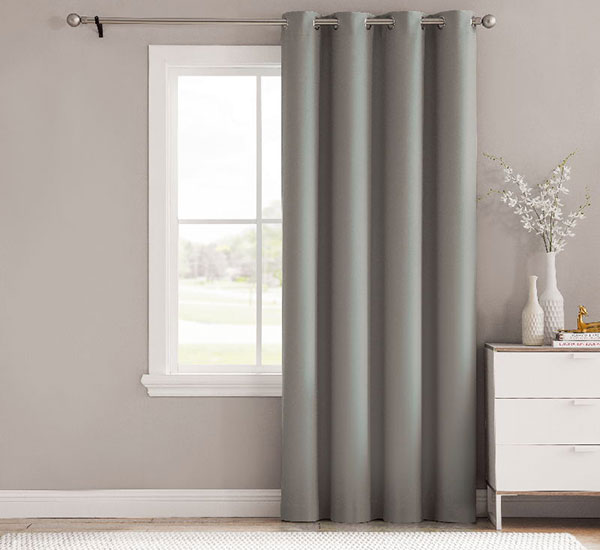 Lux Grey Darkening blackout cortinas