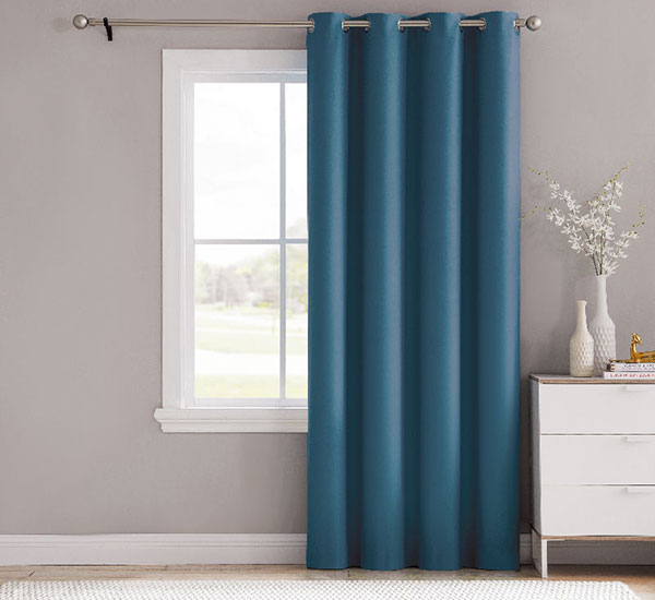 Stylish Brushed Linen Look Blackout Curtains Seal Thermal Insulated Window Treatment