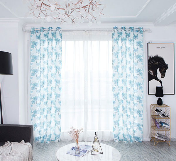Muchero Wemizambiringa Shading Insulated Curtain for Living Room polyester 8402 print sheer
